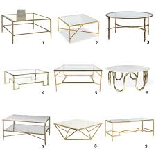 Brass Glass Coffee Table Coffee Table Am Dolce Vita A Roundup Of Brass And Glass Coffee