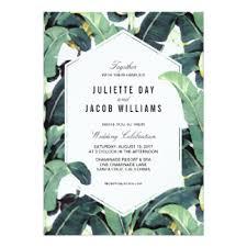 tropical wedding invitations banana leaf invitations announcements zazzle