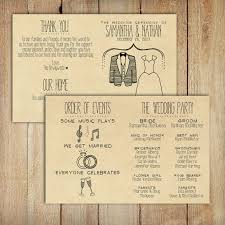 Kraft Paper Wedding Programs Wedding Program Printable Custom Diy Wedding Rustic Kraft