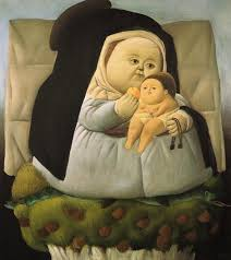 Oil Painting Meme - madonna with child by fernando botero fernando botero and meme