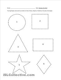 printable shape tracing worksheets pre k pinterest tracing