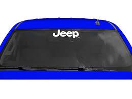 jeep windshield stickers chroma graphics 3762 xpression jeep logo windshield decal quadratec