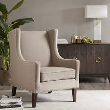 Beige Wingback Chair Furniture Wayfair Wingback Chair For Your Living Room Design