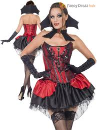 ladies gothic vampire fancy dress costume vamp halloween