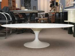 eero saarinen oval marble coffee table for knoll at 1stdibs