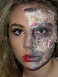 lily rose decomposing zombie halloween makeup look