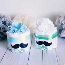 mustache mini cake baby shower centerpiece decoration