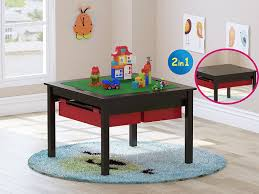 Kids Table With Storage by Utex 2 In 1 Kids Construction Play Table With Storage Drawers And