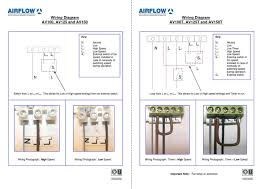 aventa wiring diagram for the airflow mixed flow in line