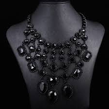 black gem necklace images 2014 za women black gem crystal necklaces pendants cross jpg