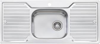Oliveri DZ Diaz Single Bowl Double Drainer Topmount Sink - Double drainer kitchen sink