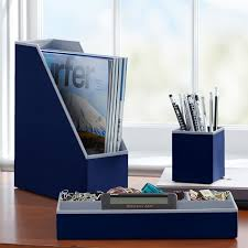 Blue Desk Accessories Printed Desk Accessories Solid Navy Pbteen