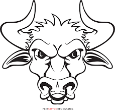 tribal style taurus bull tattoo in 2017 real photo pictures