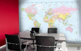world map wall mural u2013 funky store