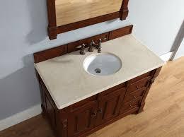 Cherry Bathroom Vanity by Abstron 48 Inch Cherry Finish Single Traditional Bathroom Vanity