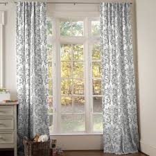 Demask Curtains Grey White Damask Curtains For Window Treatments Stunning And