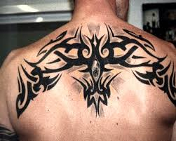celtic cross tattoo on back for men photos pictures and