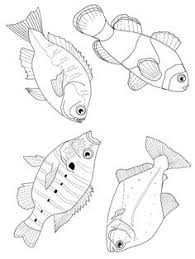 fish coloring pages seaside fish wood burning