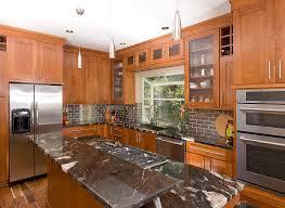 cherry cabinets mode portland transitional kitchen decorating