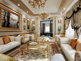most luxurious interior design royal living room with