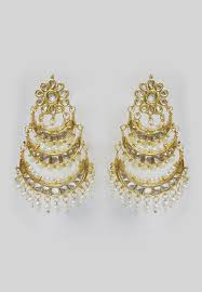 chandbali earrings pearl layered chandbali earrings jjr15625