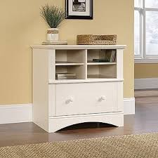 modern l shaped corner desk with included hutch in antique white