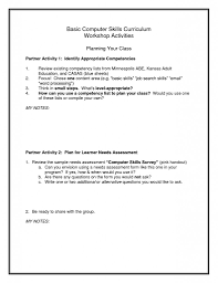 Additional Skills Resume Example by Basic Computer Skills Resume Sample Resume For Your Job Application
