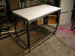 build a workbench cart from bed frame angle iron