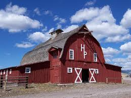 two men and a little farm why are american barns red