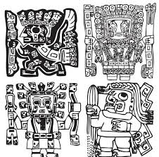 aztec ornaments elements ai format free vector