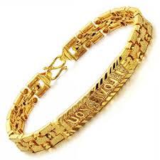 luxury man bracelet images Golden bracelets for men hd opk jewelry hot sale luxury k yellow jpg