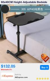 adjustable movable laptop table 60x40cm height adjustable bedside table fashion movable laptop table