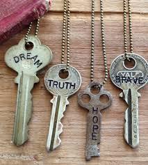 vintage key necklace images Inspirational word stamped vintage key necklace key necklace jpg