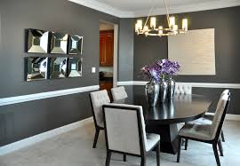 Dark Grey Accent Wall by Dining Room Dark Gray Walls Design Ideas With White Dining Room