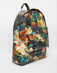 bloom backpack lyst mi pac backpack in bloom floral print in black
