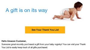 baby registy baby registry email was just a glitch today