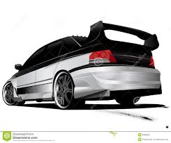 mitsubishi lancer drawing clipart