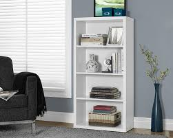 amazon com monarch specialties high bookcase with adjustable