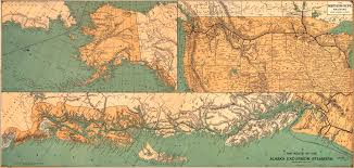 Maps Alaska by Map Of Alaska Excursion Steamer Routes 1891