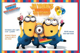 despicable me birthday invitations despicable me birthday