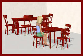 Childs Dining Chair Mod The Sims Childs Sized Functional Table And Chairs