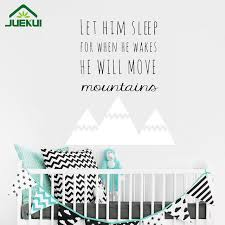 Girls Bedroom Wall Quotes Online Shop Nordic Style Mountains Quotes Wall Sticker For Kids