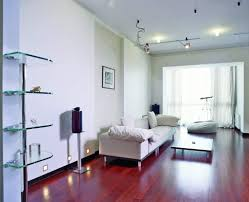 japanese living room with led spotlights and contemporary