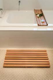 Teak Tub Caddy Wood Bath Mats Nujits Com