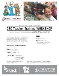 opera by children teacher training workshop cache valley