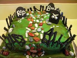Halloween Cake Graveyard by Cake And Jewelry Graveyard Cake
