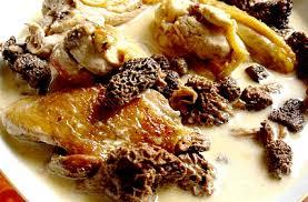 cuisiner un poulet de bresse mon poulet de bresse à la crème aux morilles et crêpes