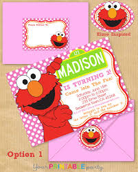 sesame street invitations template elmo party invitations theruntime com