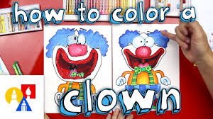 how to color a clown with oil pastels youtube