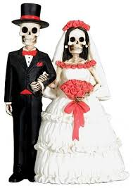 day of the dead skulls wedding cake topper wedding collectibles